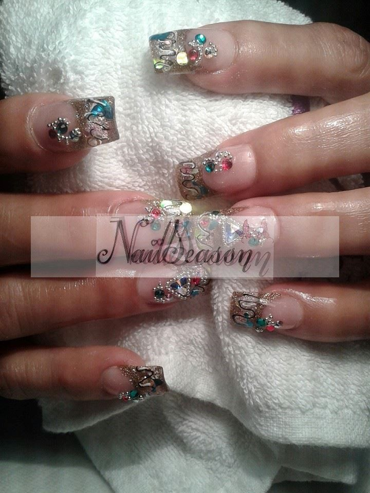 65 best unas images on Pinterest | Gel nails, Nail design and Work nails