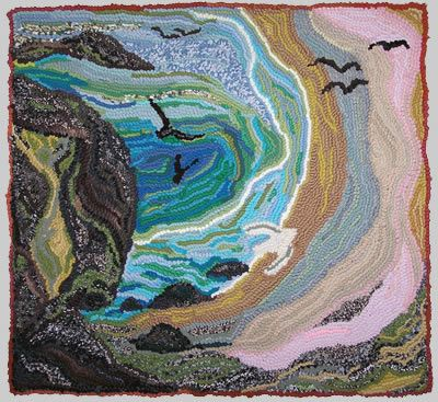 Sand Sea And Stone Orkney By Louisa Creed Rug Hooking Patternsrug Making Ideasrag Rugstextile