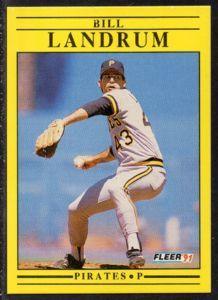 #41 Bill Landrum (1991) - Fleer Baseball card. New on http://colnect.com/sports_cards