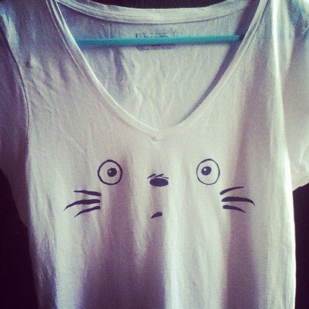 DIY totoro t-shirt (Also need too make...)