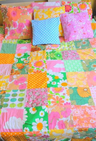 upcycled fabric quilt by