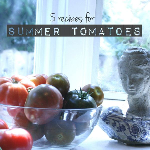 Those summer tomatoes just keep coming!  Here are five of my favorite go-to recipes that I have made over the years