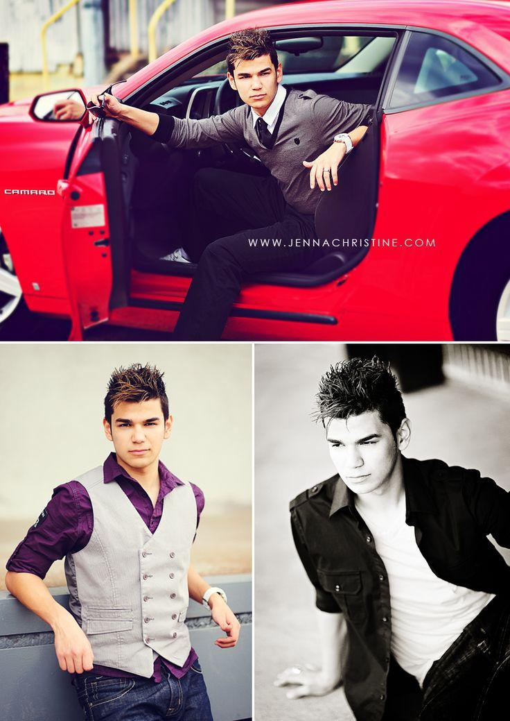 Senior Boy Photography - With Car, great poses.  jenna christine photography