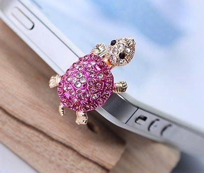 Turtle dust plug for iPhones and other smartphones that plugs into the headphone port on them and looks nice. $4.