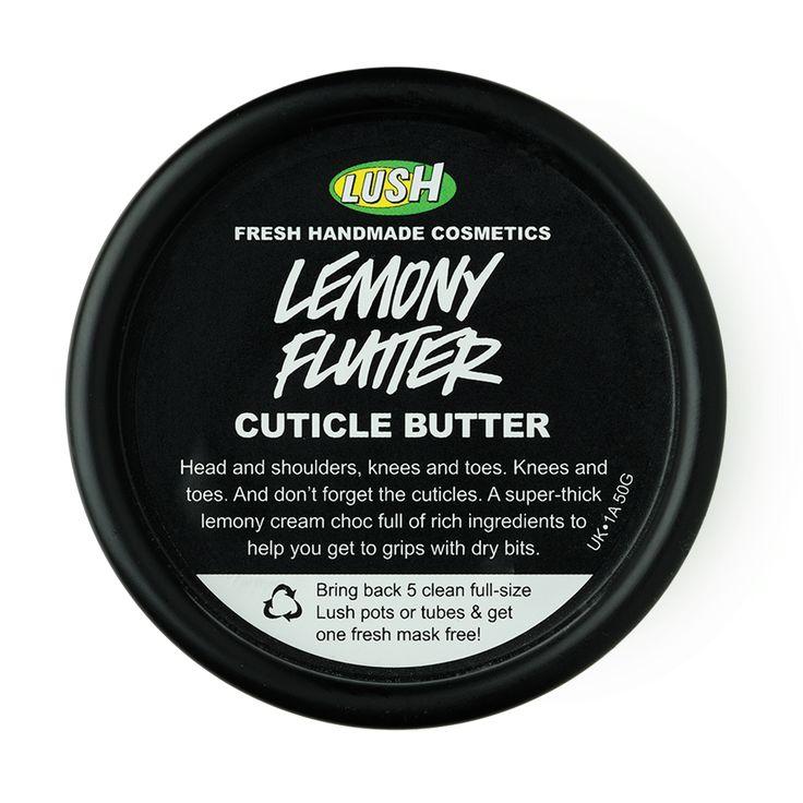 Lemony Flutter   Lush cheiro otimo, hidratante