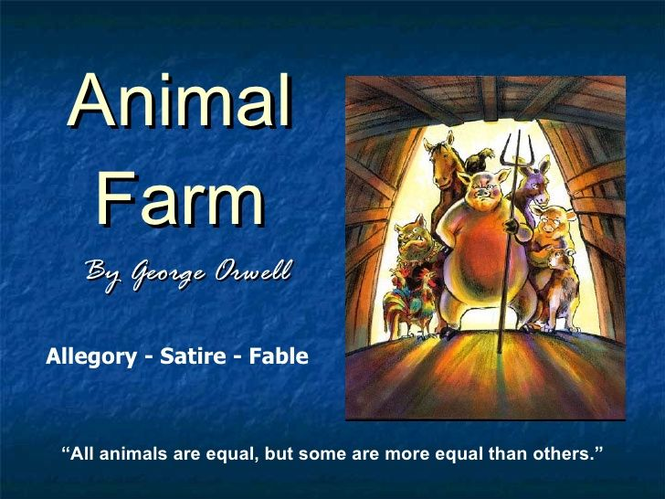 animal farms theme essay One of orwell's goals in writing animal farm was to portray the russian (or bolshevik) revolution of 1917 as one that resulted in a government more.