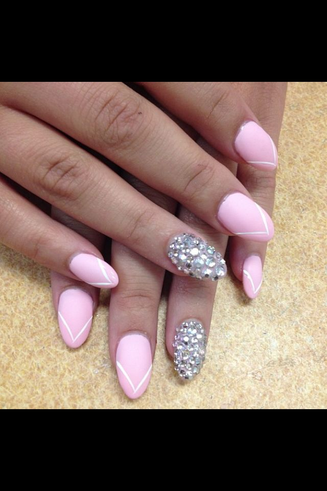 Matte French Manicure From Classic Nails