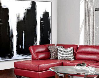 Arte de pared abstracto arte pintura en por ModernArtHomeDecor