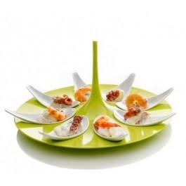 Set finger food green/white in melamina 100% - Mebel
