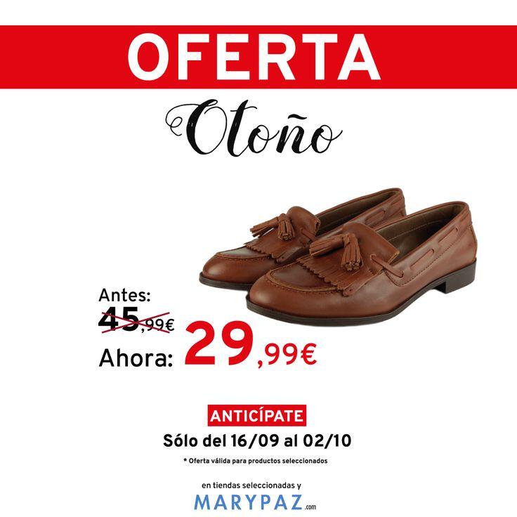 ¡¡¡ OFERTA DE OTOÑO BY MARYPAZ !!!     Busca este MOCASÍN CON FLECOS aquí ►http://www.marypaz.com/oferta-oto-o/mocasin-de-piel-con-flecos-y-borlas-0110394195-72427.html  ¡No te pierdas la oferta de otoño by MARYPAZ desde 9,99€! ¡Encontrarás grandes descuentos!  #Follow #shoesobssession #love #otoño #fashion #obsesionadaconloszapatos #colour #obsesion #tendencias #marypaz #locaporlamoda #BFF #igers #moda #zapatos #trendy #look #itgirl #igersoftheday #girl #autum  Disponible