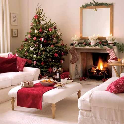 Decoration, Contemporary Living Room Ideas Small Space Cool Christmas Small  Living Room Decorating Ideas Christmas