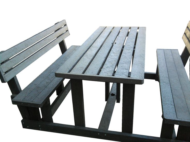Recycled Plastic Picnic Sets with Back Rest 2 Seaters.- 4 Seaters - 6 Seaters - 8 Seaters  - 10 Seaters