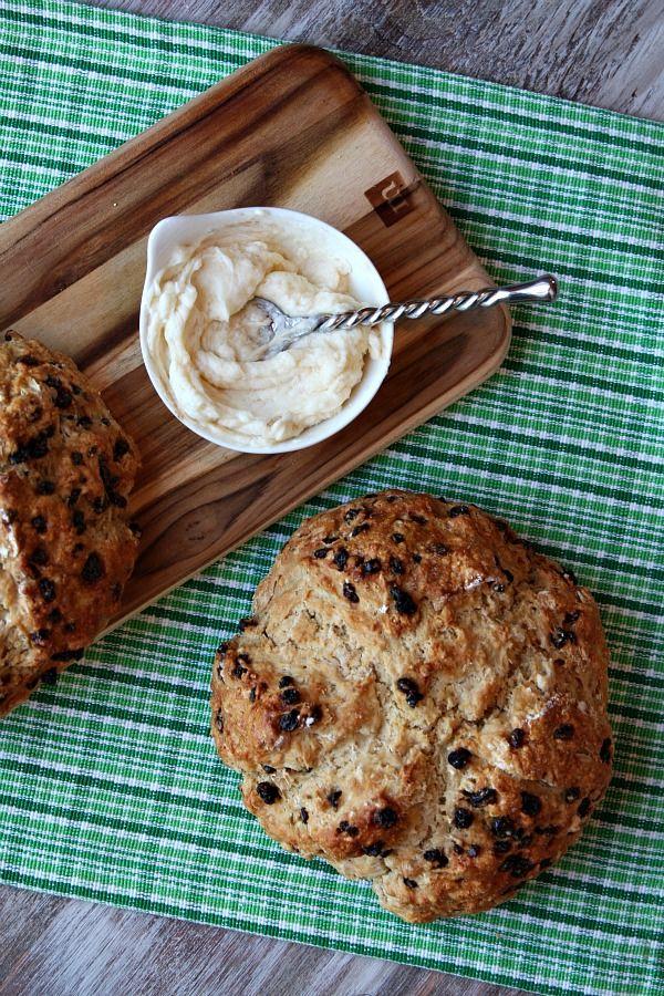 Brown Butter Irish Soda Bread w/ Honey- Cinnamon Butter -- for St. Patrick's Day