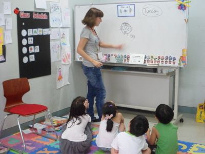 A blogger who uses her blog as a way to share the resources that she's built up over the years of teaching English as an additional language to young children.  She's taught students from PreK to university level in Scotland, Canada, USA, Thailand, and Korea.