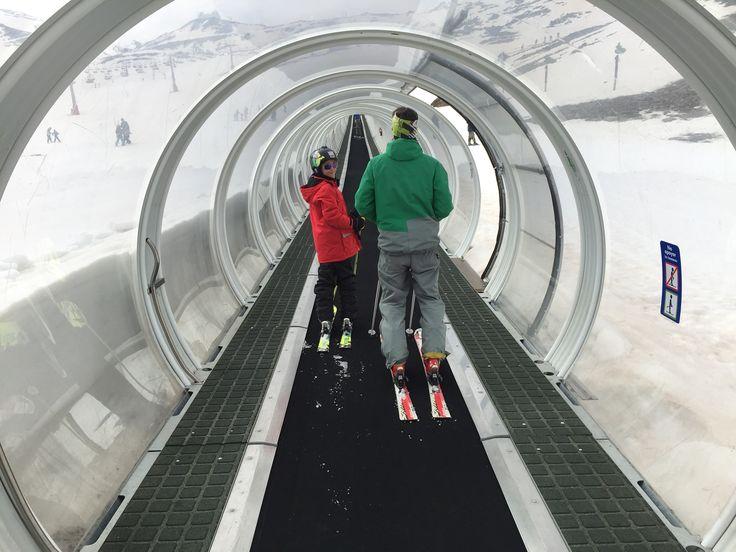 Learning to ski in Sierra Nevada