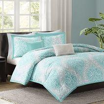 Senna Aqua Comforter Set by Intelligent Design