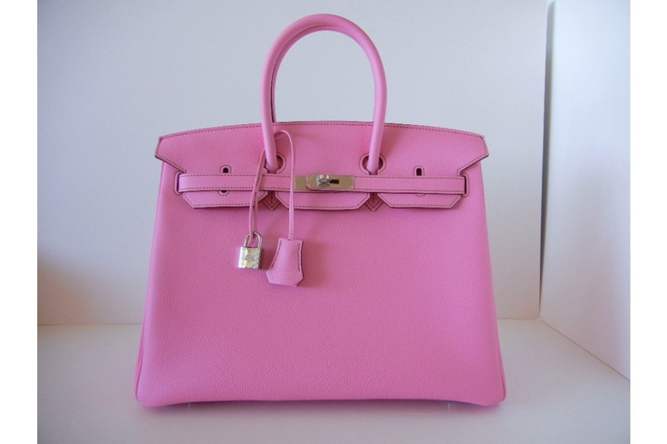 Hermes pink Birkin. Oh how I would love to own this handbag....