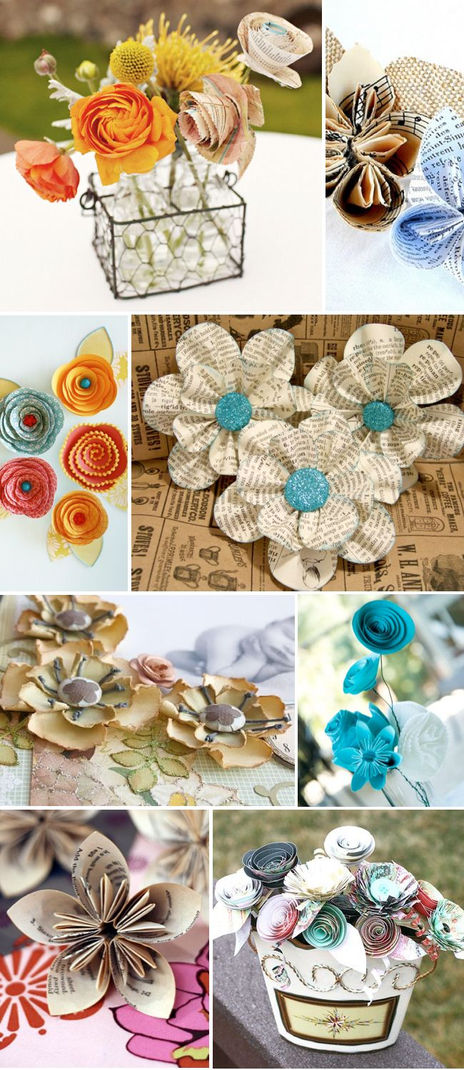 These paper flowers will look awesome made out of fabric too!!  Look out for a dress with these soon.