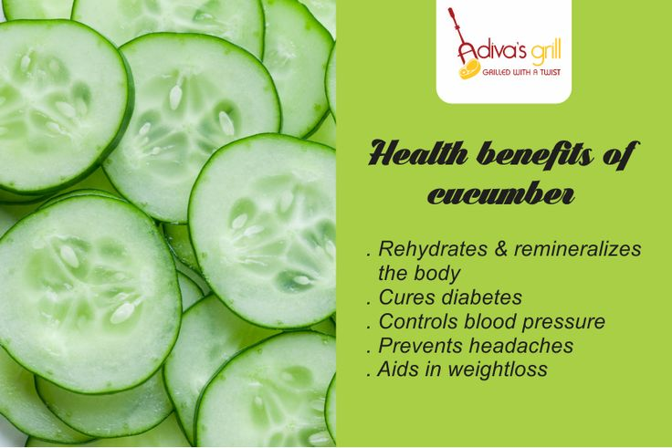 Experience the health benefits of cucumber. Stay Healthy with Adiva's Grill.