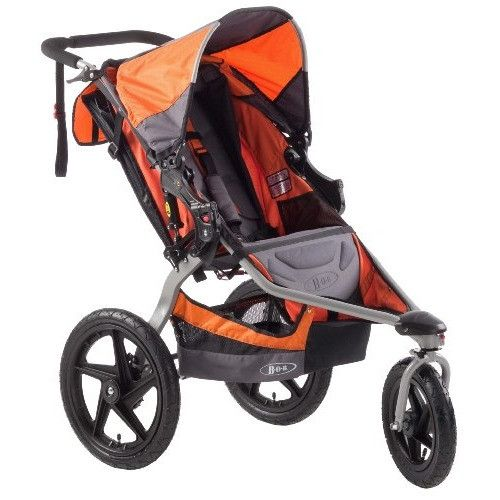 We love the BOB Revolution Stroller for its strong design that can take on jogging and rough terrain. Bring it on, world!