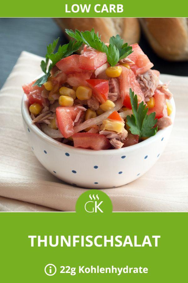 Das Rezept vom Thunfischsalat passt im Sommer und im Winter. Mais und Tomaten schmecken besonders den Kindern. #lowcarb #gutekueche #abnehmen #gesund #austrianfood #thunfisch #diät #suppe #salat