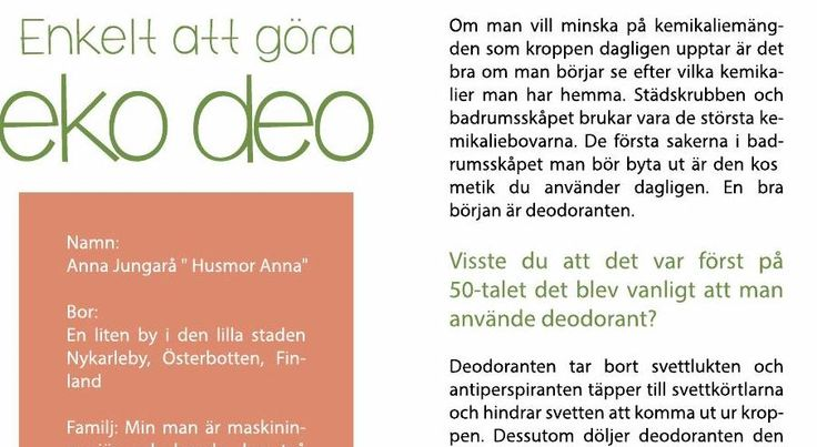 Ekologiskt recept på deo, deodorant, eko deo, diy