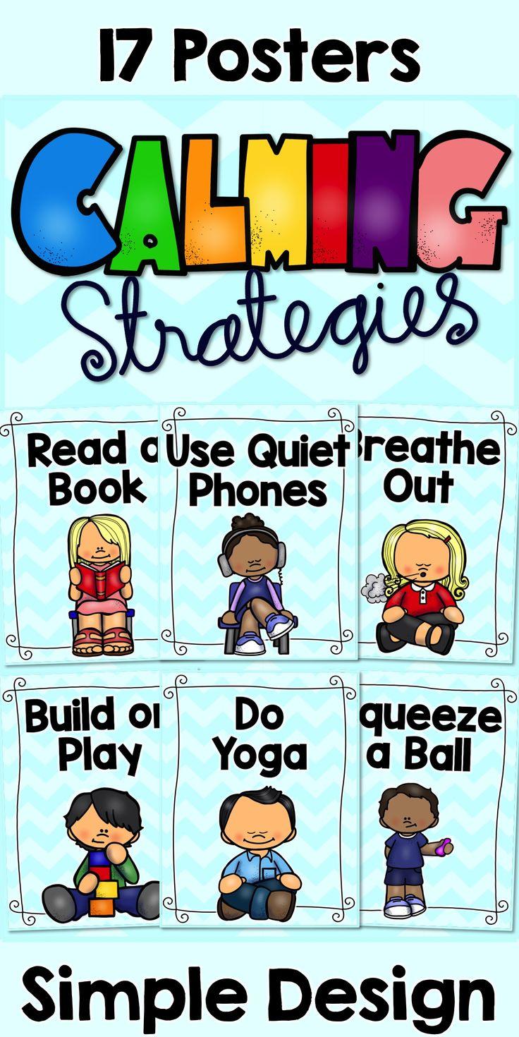 Calming Strategies Posters | Teaching empathy, Classroom ...