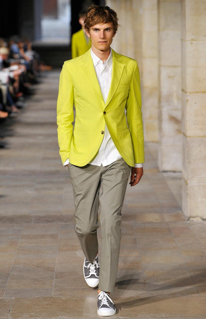 Hermes 2013- Yellow: Wedding Inspiration, Hermes, Yellow Wedding, Fashion Boards, Men Fashion, Paris Fashion Weeks, Blazers, Grooms Outfit, Color Pop