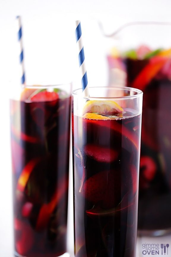 The BEST Sangria 2 (750 mL) bottle MAN Family Wines Cabernet Sauvignon 1 cup brandy 1/3 cup sugar 1/4 cup orange liqueur 1 pound DOLE strawberries, hulled and halved 3 oranges, thinly sliced 3 limes, thinly sliced 2 lemons, thinly sliced 4 cups DOLE fresh arugula (optional) 1 can lemon-lime soda