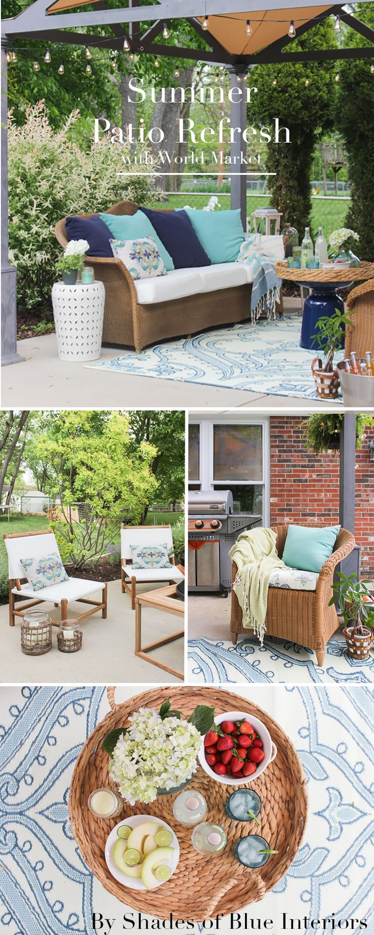 Awesome Summer Patio Refresh Via Shades Of Blue Interiors For Cost Plus World Market  Www.worldmarket