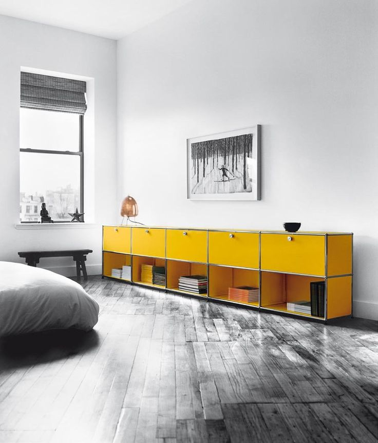 Superieur USM Modular Contemporary Furniture. This Custom Yellow Living Room Credenza  Is Sure Way To Pop
