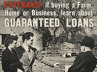 Another benefit of the Servicemen's Readjustment Act was low interest, zero down payment home loans. Description from hankeringforhistory.com. I searched for this on bing.com/images
