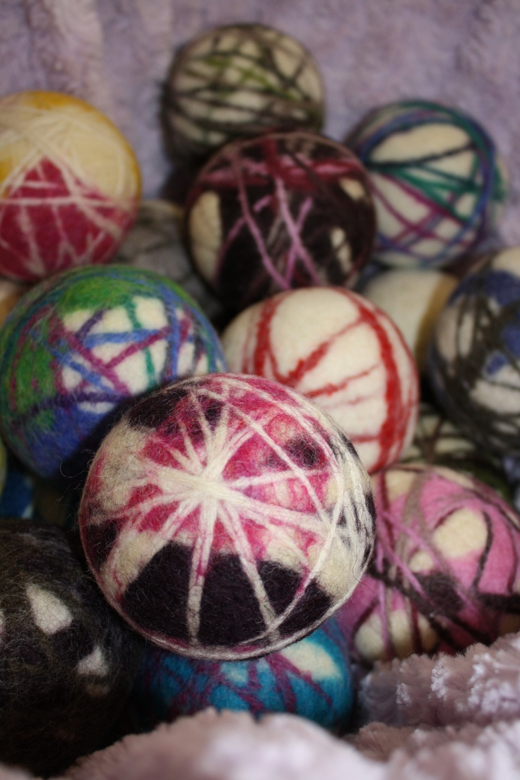 Wool dryer balls from Bouncing Woolies.  I love these and don't have any, yet!