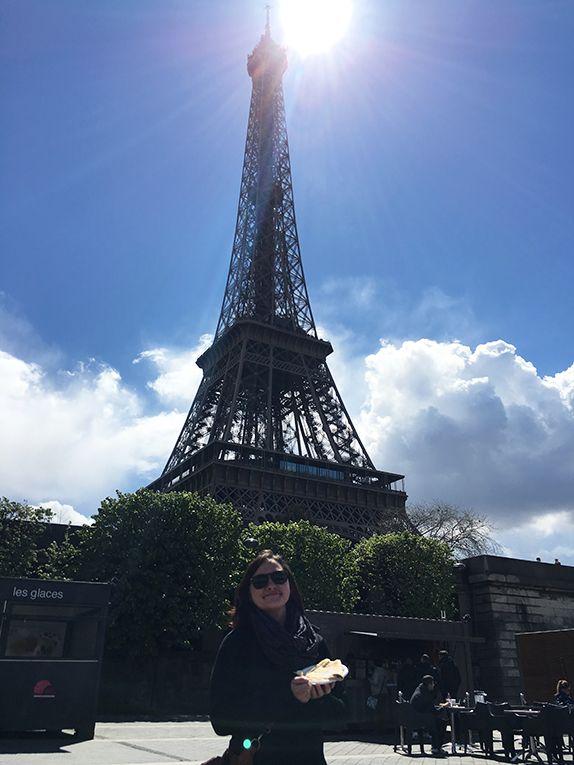 Gabie on her weekend travel in Paris... with crepes