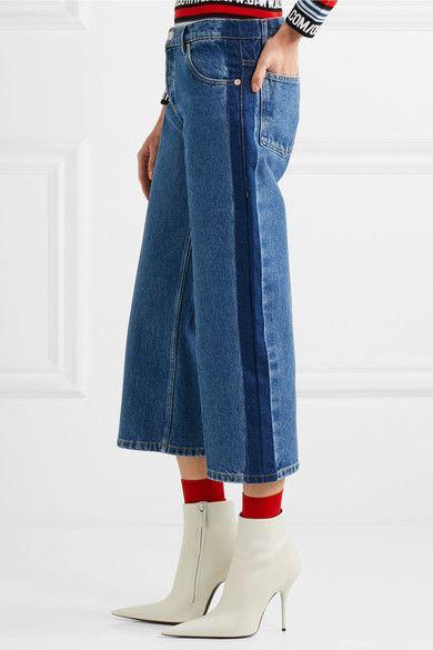 Balenciaga - Rockabilly Cropped Mid-rise Wide-leg Jeans - Indigo - FR40