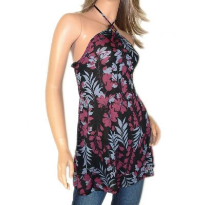Women's Clothing :: Tops :: Tropical print halter top - $27