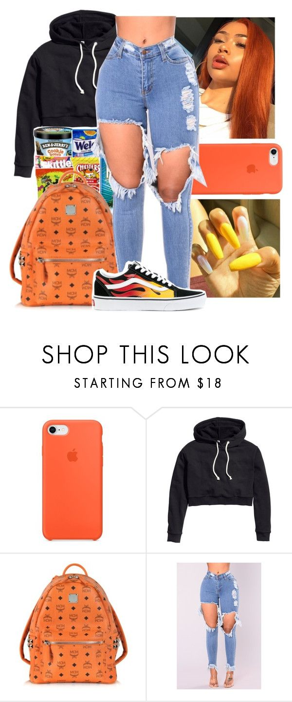 """Untitled #30"" by aaliyah-marie1 ❤ liked on Polyvore featuring H&M, MCM and Vans"