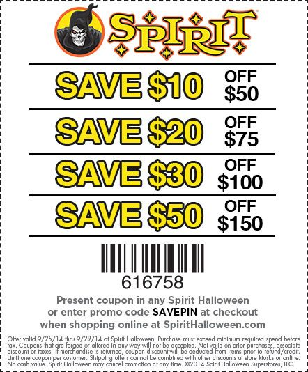 It's the last day to use this Spirit Halloween buy more, save more coupon! Get to your local Spirit location today!