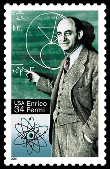 Enrico Fermi commemorative stamp