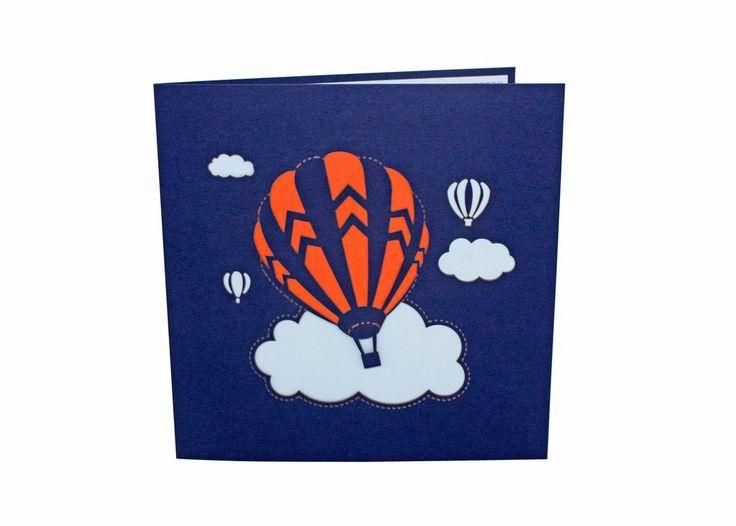 AITpop Fire Balloon hand-crafted greeting card 3D Pop Up Card