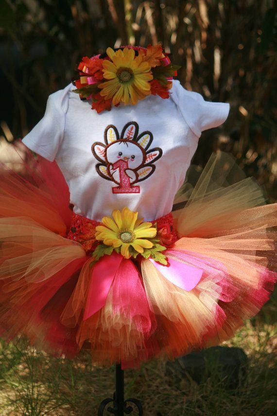 First Thanksgiving Tutu Birthday Outfit by TinasOnceUponATutu, $55.00
