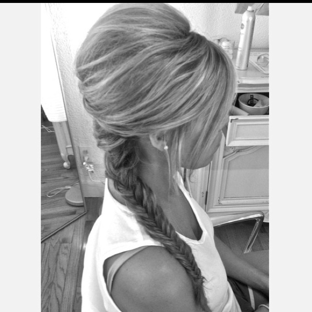Hairstyles For Long Hair Backless Dress : Fishtail, Fishtail braids and Braids on Pinterest