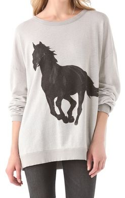 horse sweater elli says noooooo waaaaay that one is soooo cool @cassandramiddleton