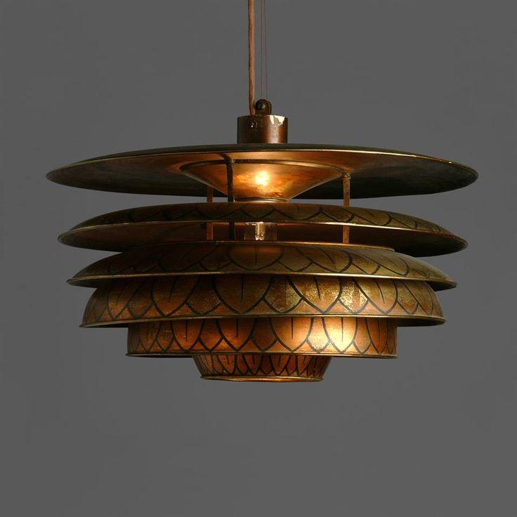 Pariserlampen dekoreret af Axel Salto (1925)