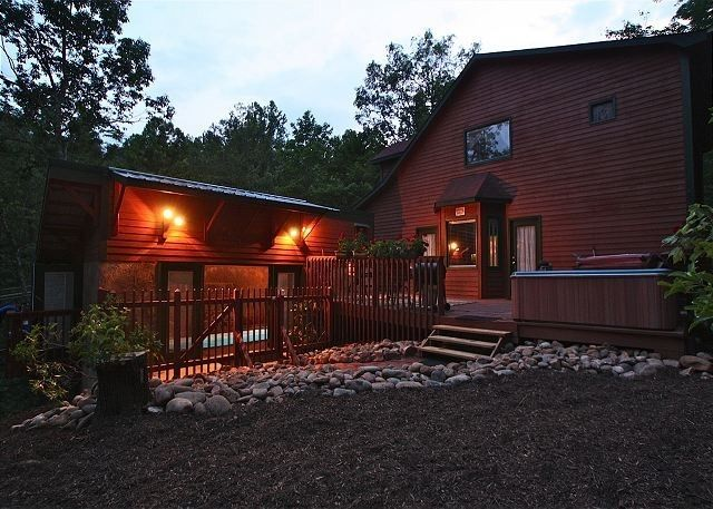 Gatlinburg Cabin Rental Cabin For 2 With Private Indoor Swimming Pool Waterfall In Gatlinburg