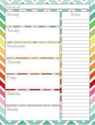 Afbeeldingsresultaat voor empty weekly calendar template