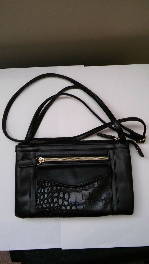 e6acf42cd34 Black Pocketbook Shoulder Type Small 8-1/2 X 5 #fashion #clothing ...