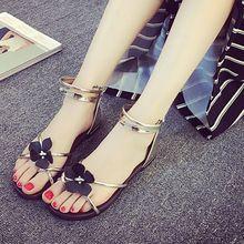 Tndnw 2017 del verano nuevas sandalias planas estudiantes Coreanos ocio zapatos del todo-fósforo flores antideslizante transpirable zapatos de playa sandalias de la señora(China (Mainland))