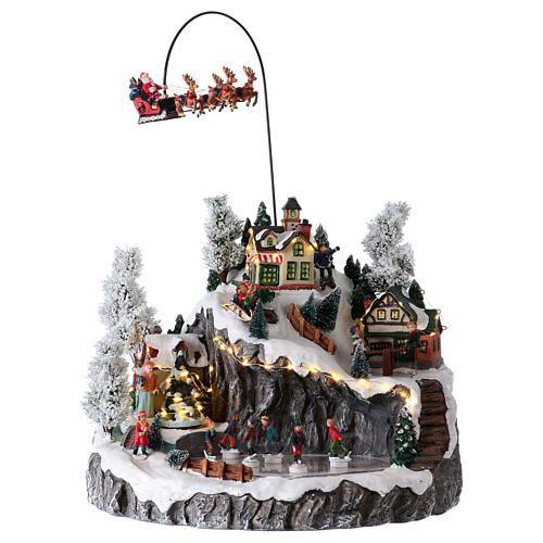 1649035ac32 Pueblo Navideño Trineo de Papá Noel