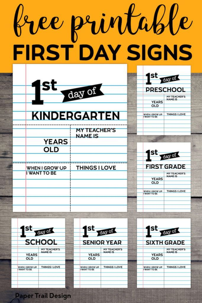 photo relating to Free Printable Custom Signs named Editable 1st Working day of Higher education Indicators - Laptop Paper No cost